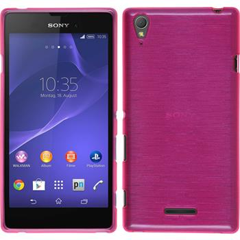 Silikon Hülle Xperia T3 brushed pink
