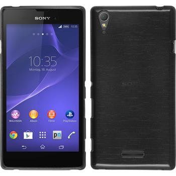 Silikonhülle für Sony Xperia T3 brushed silber