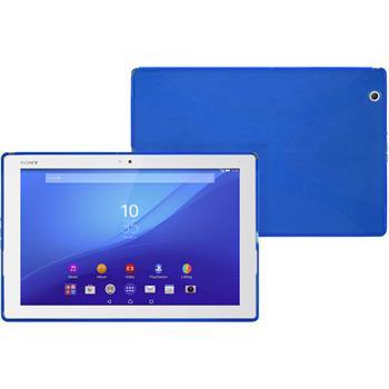 Silikon Hülle Xperia Tablet Z4 X-Style blau
