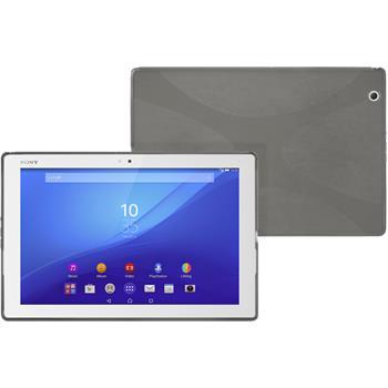 Silikon Hülle Xperia Tablet Z4 X-Style grau