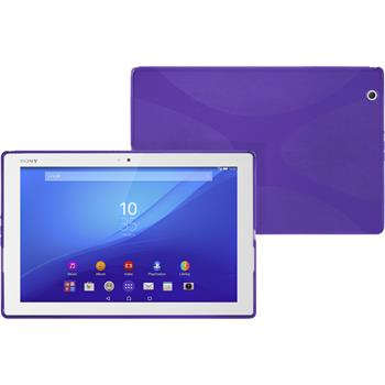 Silikon Hülle Xperia Tablet Z4 X-Style lila