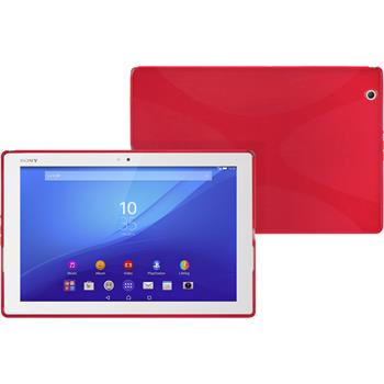 Silikon Hülle Xperia Tablet Z4 X-Style rot
