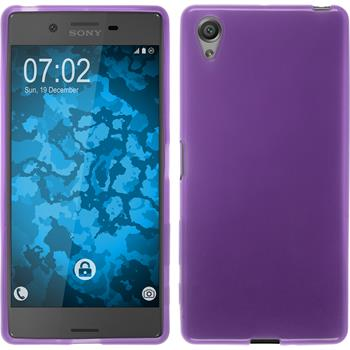 Silikonhülle für Sony Xperia X transparent lila