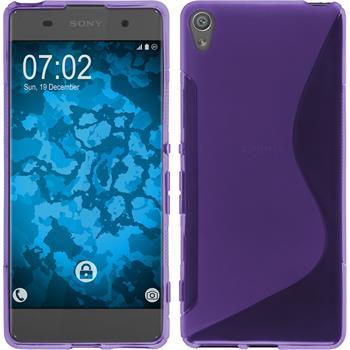 Silikon Hülle Xperia XA S-Style lila