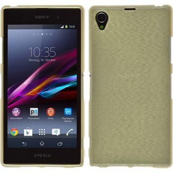 Silikonhülle für Sony Xperia Z1 brushed gold