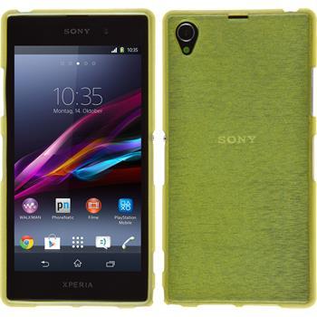 Silikonhülle für Sony Xperia Z1 brushed pastellgrün
