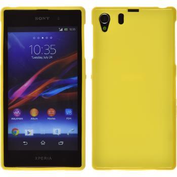 Silikonhülle für Sony Xperia Z1 matt gelb