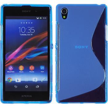Silikon Hülle Xperia Z1 S-Style blau