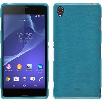 Silikon Hülle Xperia Z3 brushed blau