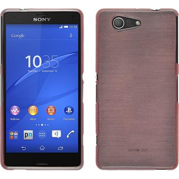 Silikonhülle für Sony Xperia Z3 Compact brushed rosa