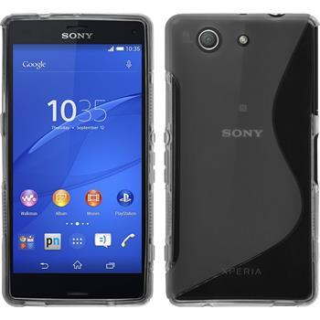 Silikonhülle für Sony Xperia Z3 Compact S-Style grau