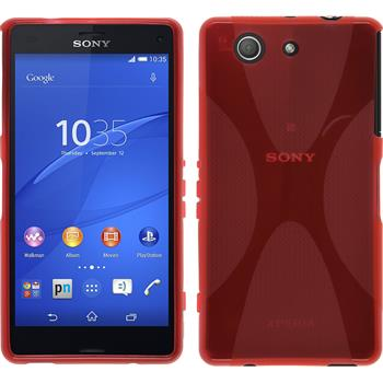 Silikon Hülle Xperia Z3 Compact X-Style rot