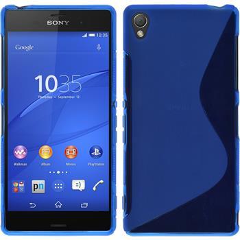 Silikonhülle für Sony Xperia Z3 S-Style blau