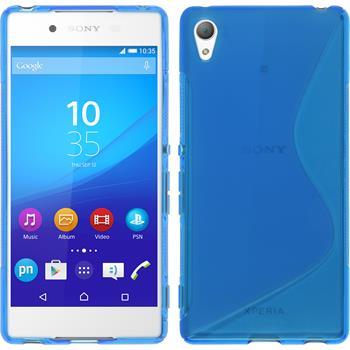 Silikon Hülle Xperia Z3+ / Plus S-Style blau