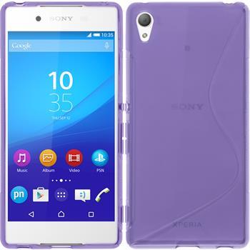 Silikonhülle für Sony Xperia Z3+ / Plus S-Style lila