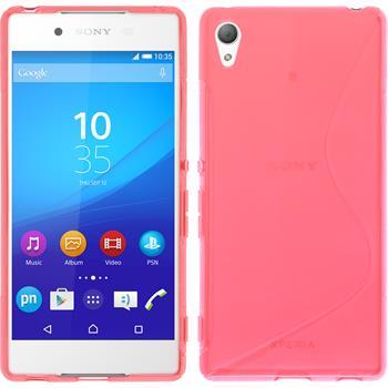 Silikonhülle für Sony Xperia Z3+ / Plus S-Style pink