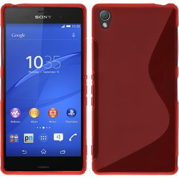 Silikon Hülle Xperia Z3 S-Style rot