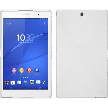 Silikon Hülle Xperia Z3 Tablet Compact X-Style weiß + 2 Schutzfolien