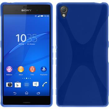 Silikon Hülle Xperia Z3 X-Style blau