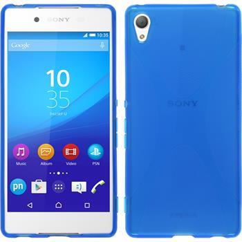 Silikon Hülle Xperia Z3+ / Plus X-Style blau