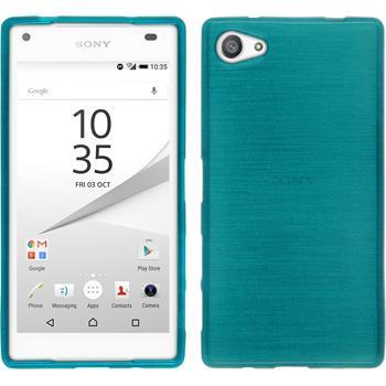 Silikon Hülle Xperia Z5 Compact brushed blau