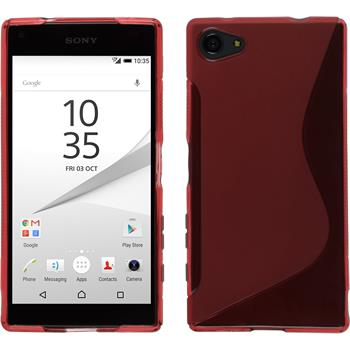 Silikon Hülle Xperia Z5 Compact S-Style rot