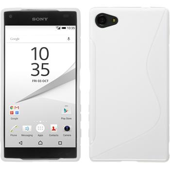 Silikon Hülle Xperia Z5 Compact S-Style weiß
