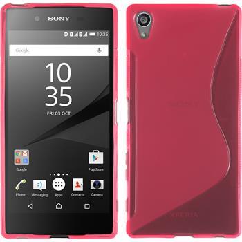 Silikon Hülle Xperia Z5 Premium S-Style pink