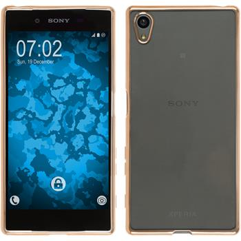 Silikon Hülle Xperia Z5 Slim Fit gold