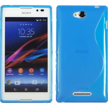 Silicone Case for Sony Xperia C S-Style blue