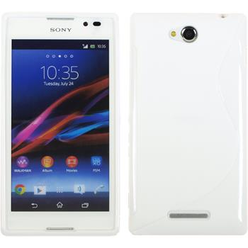 Silicone Case for Sony Xperia C S-Style white