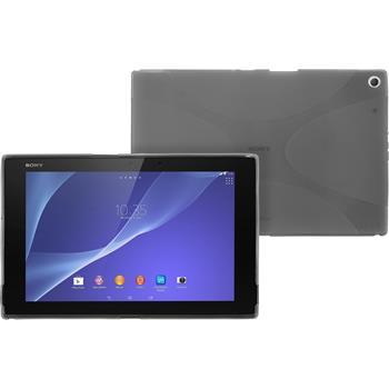Silikon Hülle Xperia Tablet Z2 X-Style grau