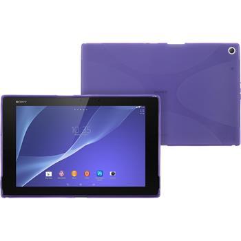 Silikon Hülle Xperia Tablet Z2 X-Style lila