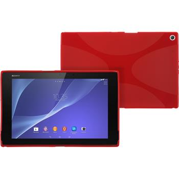 Silikon Hülle Xperia Tablet Z2 X-Style rot