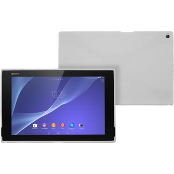 Silikon Hülle Xperia Tablet Z2 X-Style weiß