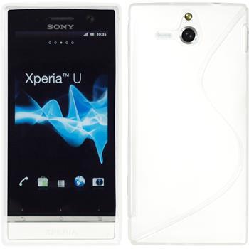 Silikon Hülle Xperia U S-Style weiß