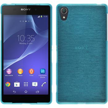 Silicone Case for Sony Xperia Z2 brushed blue