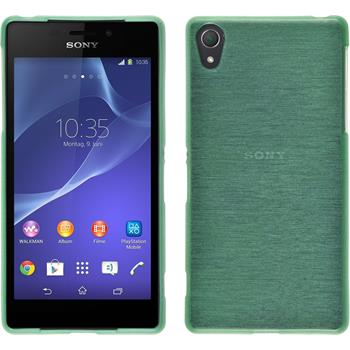 Silicone Case for Sony Xperia Z2 brushed green