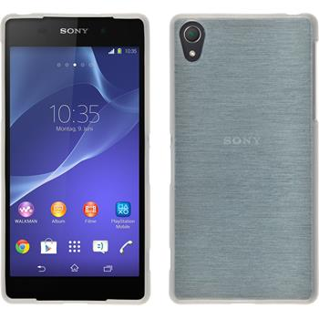 Silikon Hülle Xperia Z2 brushed weiß