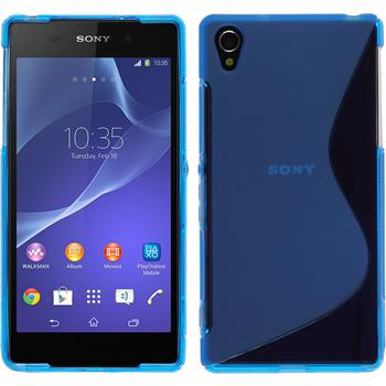 Silikon Hülle Xperia Z2 S-Style blau