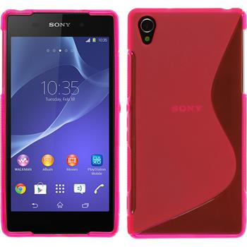 Silicone Case for Sony Xperia Z2 S-Style hot pink