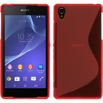 Silicone Case for Sony Xperia Z2 S-Style red