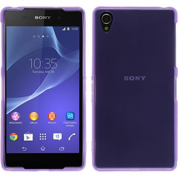 Silicone Case for Sony Xperia Z2 transparent purple
