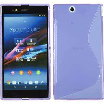 Silikon Hülle Xperia Z Ultra S-Style lila