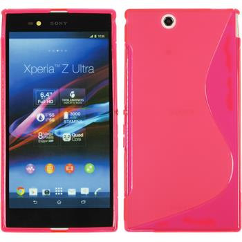 Silikon Hülle Xperia Z Ultra S-Style pink