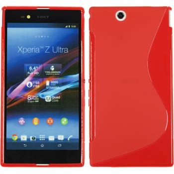 Silikon Hülle Xperia Z Ultra S-Style rot