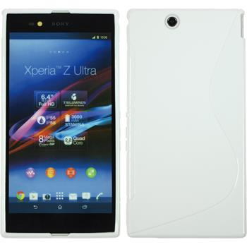 Silikon Hülle Xperia Z Ultra S-Style weiß