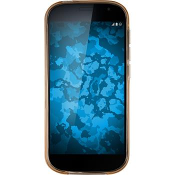 Silikon Hülle Yotaphone 2 transparent gold