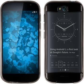 Silikon Hülle Yotaphone 2 transparent grau