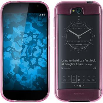 Silikon Hülle Yotaphone 2 transparent rosa